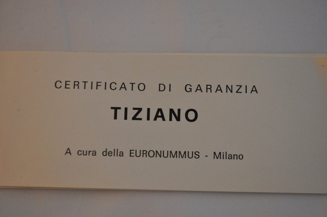 Limited Edition-Tiziano's Artwork imprinted on fine gol - 8