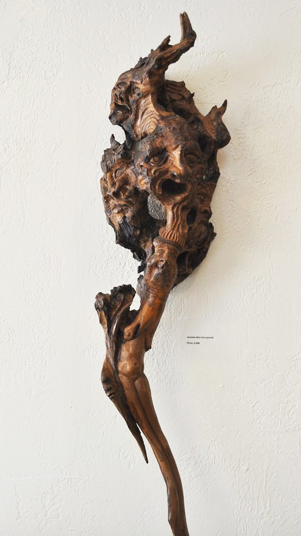 Ancient Olive Tree-Carved