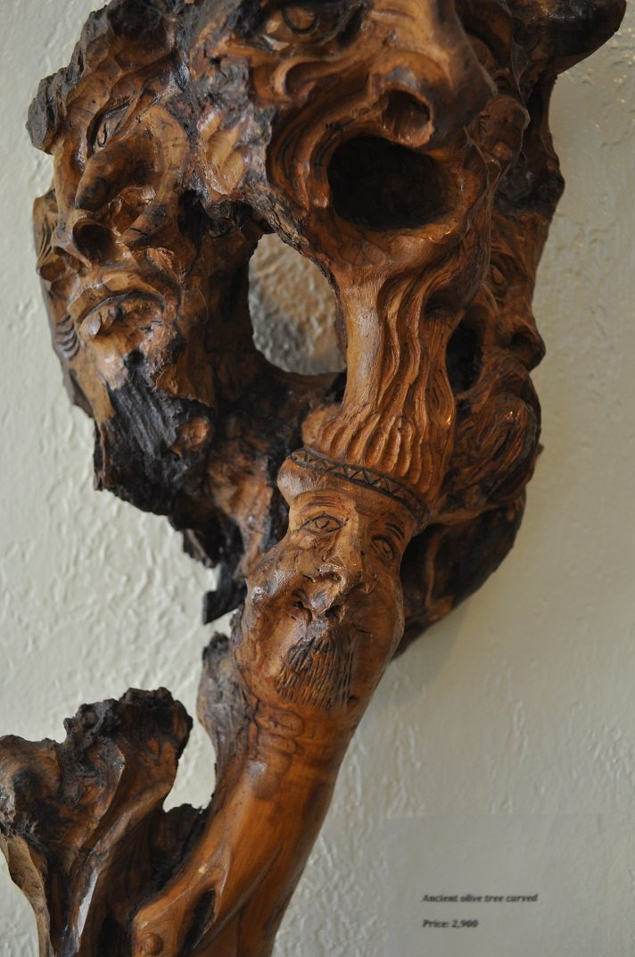 Ancient Olive Tree-Carved - 2