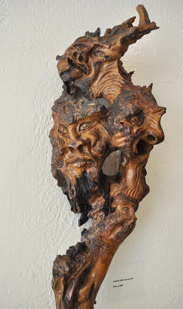 Ancient Olive Tree-Carved - 4