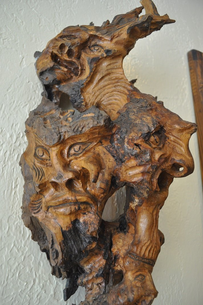 Ancient Olive Tree-Carved - 5