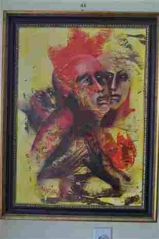 Rapisardi Alfio Oil on Canvas-Signed