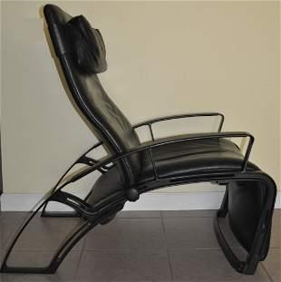 "Vintage ""Poltrona Frau"" Leather Reclining Chair"