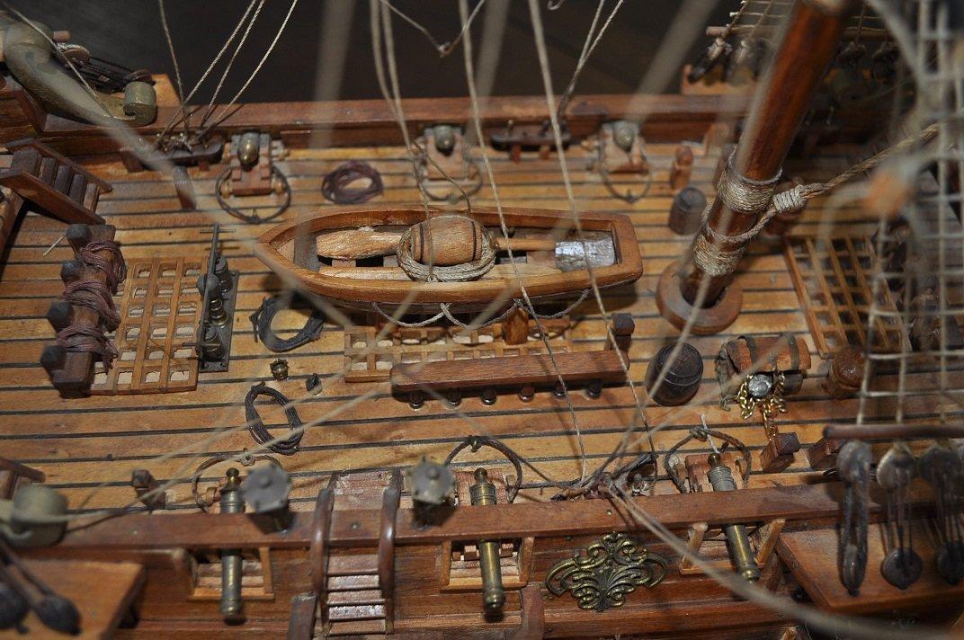 Spanish Galleon Wooden Model- Ship - 10