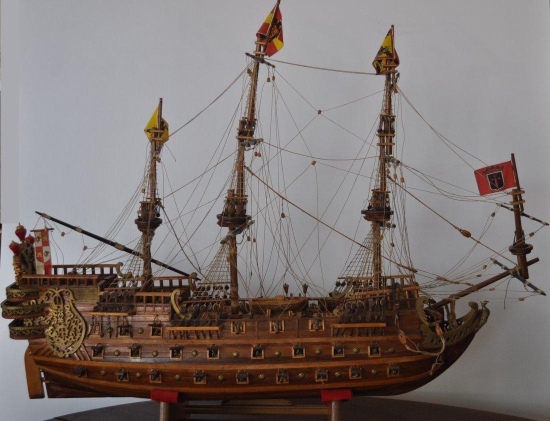 Spanish Galleon Wooden Model- Ship