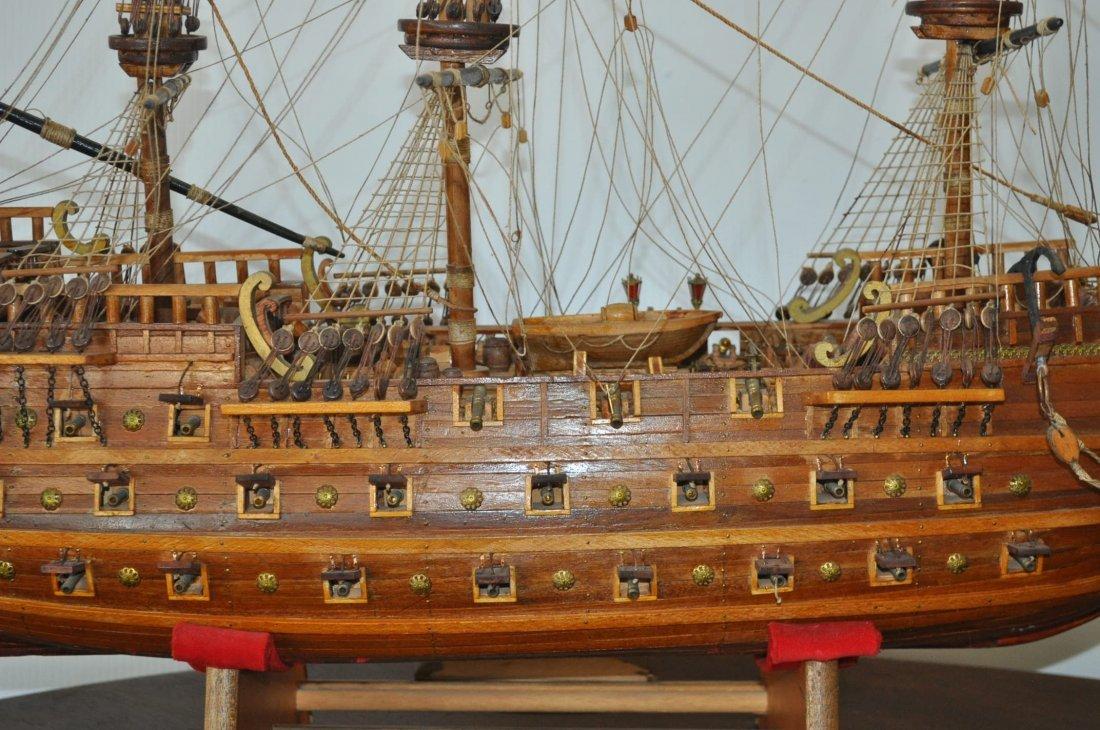 Spanish Galleon Wooden Model- Ship - 2