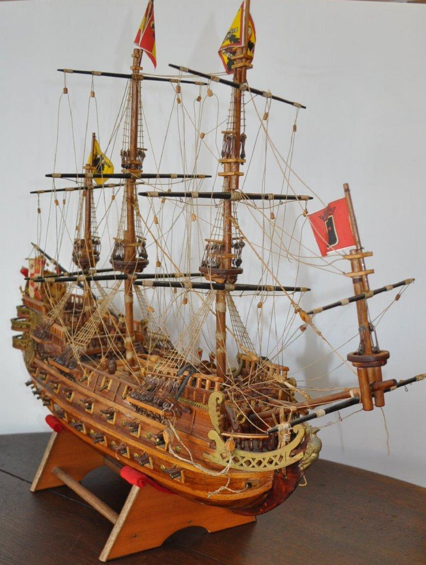 Spanish Galleon Wooden Model- Ship - 3