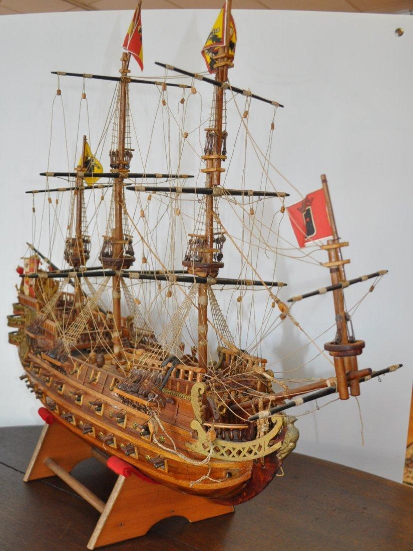 Spanish Galleon Wooden Model- Ship - 4