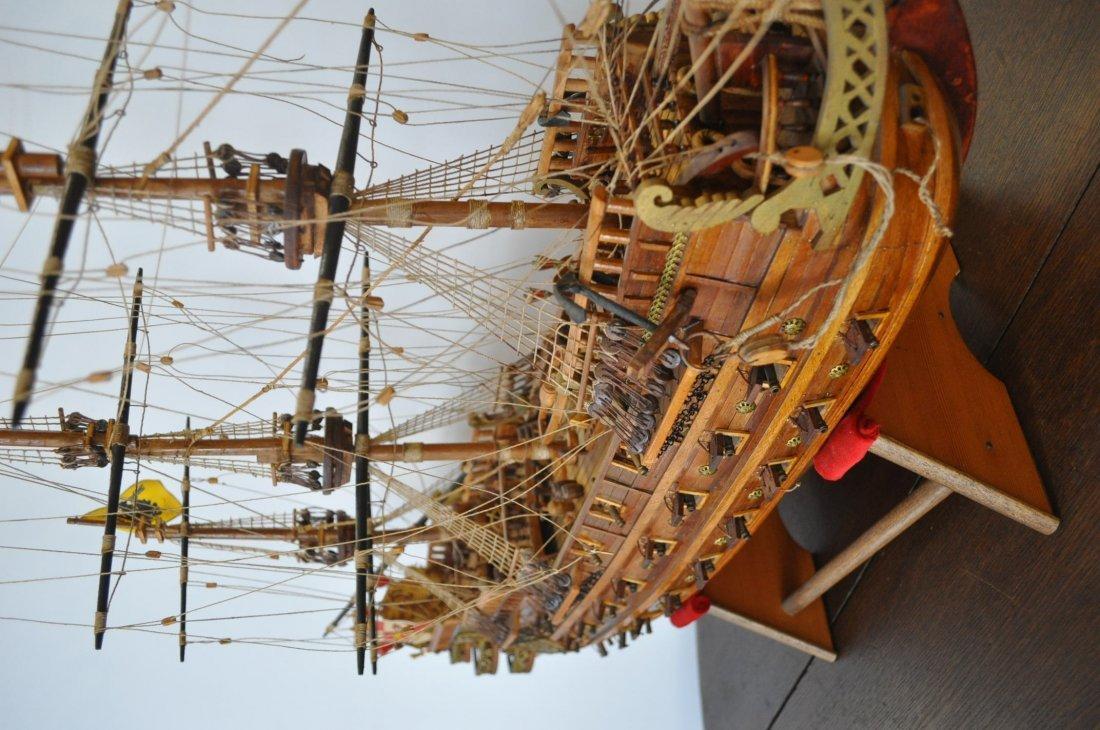 Spanish Galleon Wooden Model- Ship - 5
