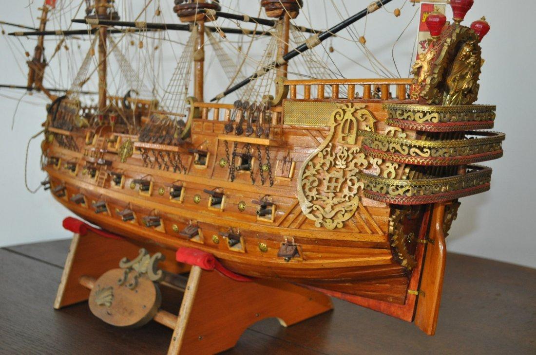Spanish Galleon Wooden Model- Ship - 7