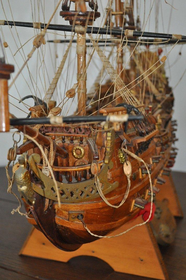 Spanish Galleon Wooden Model- Ship - 9