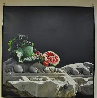 Still Life n.32 Oil on Linen by Luciano Ventrone 1985