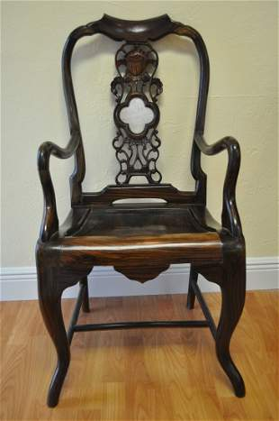 Set of 2 Antique carved armchairs 19th Century