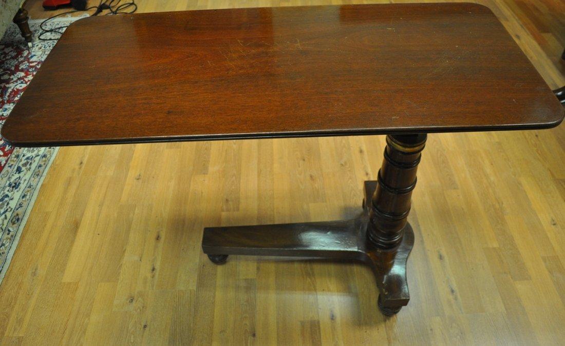 Over bed table, mahogany patina. 19th Century