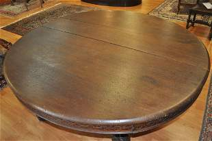 19th Century French Oak Dining table
