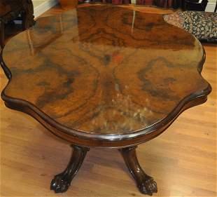 Antique English mahogany table 19th Century