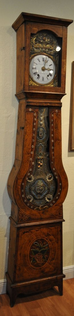 Antique Franch Grandfather Clock mid 19th Century