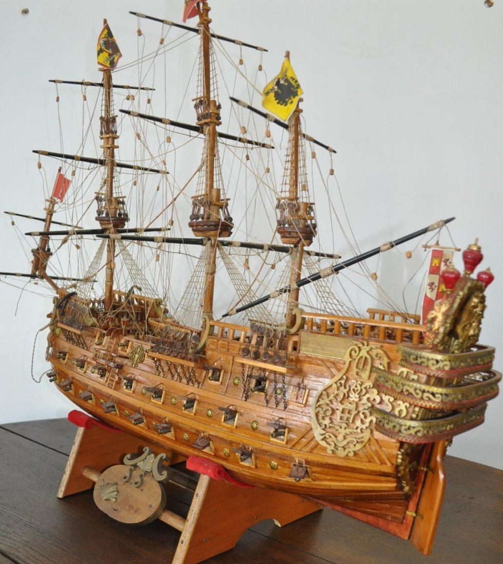 galleon wooden model ship