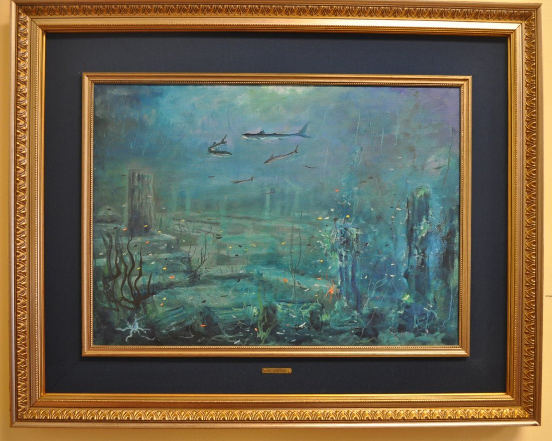 "G.Notino ""Abysses"" Italian Oil on Canvas"