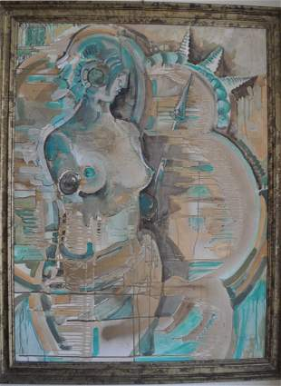 Watercolor on Masonite 1992 F. Marzetti