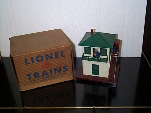 1: Lionel Trains operating switch tower No. 445 with th