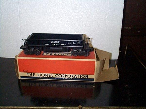 12: Lionel Trains automatic dumping ore car No. 3469 wi