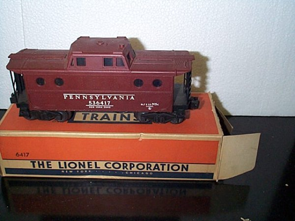 14: Lionel Trains caboose No. 6417 Pennsylvania with or