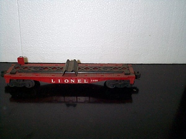 23: Lionel Trains flat bed car No. 3460 with no box.  B