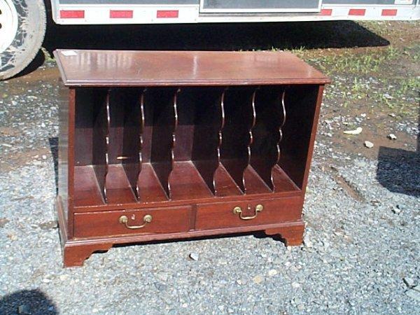 149G: Walnut oversized record cabinet/magazine cabinet