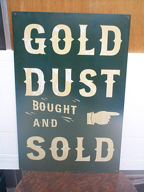520: Porcelain Gold Dust Bought and Sold advertising si