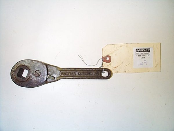169: Vintage, ratchet wrench, Lowell-reversible No. 10,