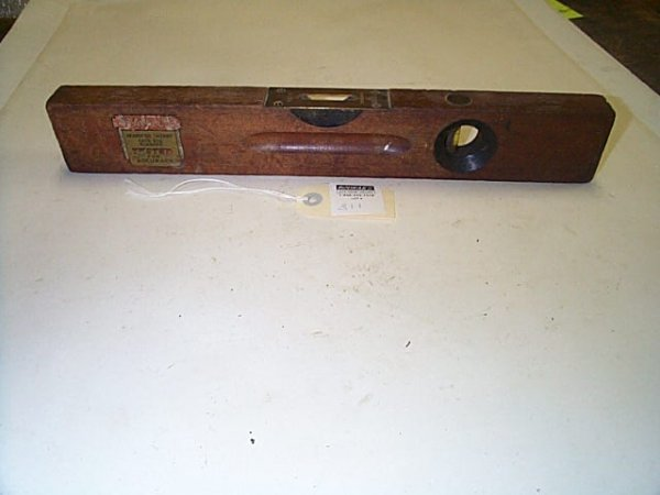 311: Vintage, Stanley rule and level, wood with brass t