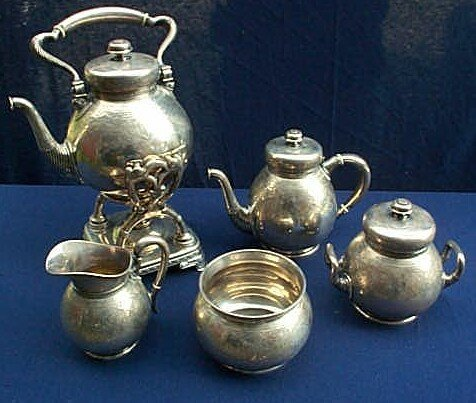 6: Tiffany & Co. sterling silver 5 piece tea set marked