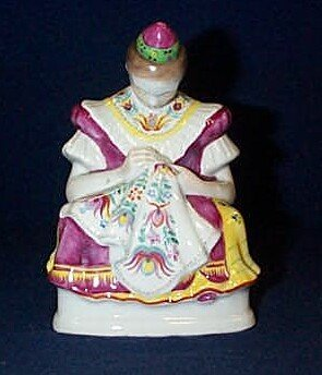 8: Herend girl figurine 5 1/2 inches tall