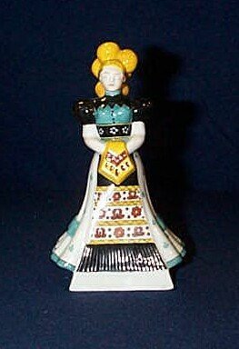 9: Herend girl figurine 5 inches tall