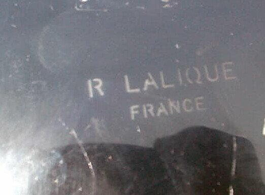 56: Marked R. Lalique France black amethyst perfume bot - 2