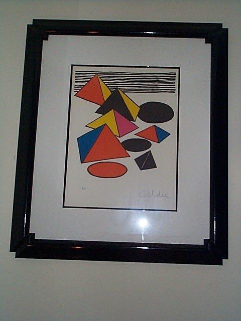 "203: Caldor, pencil signed lithograph, entitled, ""Pyram"