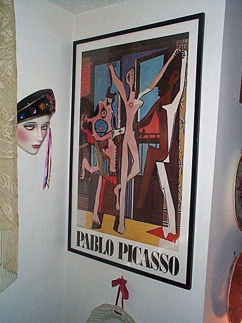 "206: Pablo Picasso, framed print.  Measures 32"" long by"
