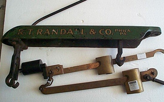 1: R.T. Randall & Co. Brass scale, measures 24 inches l
