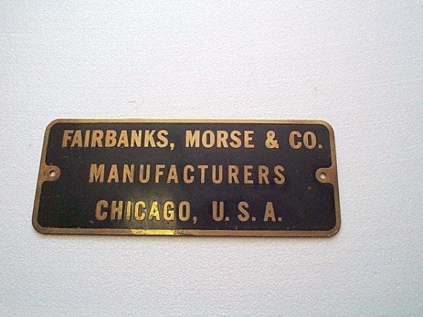 "21: Bronze wall mounted plaque, ""Fairbanks, Morse & Co."