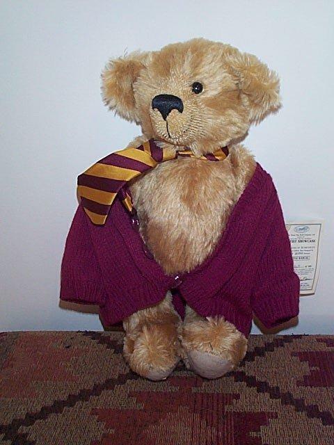 """1002: 15"""" Dean's Rag Book jointed teddy tear.  Little R"""