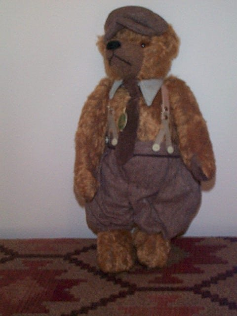"1005: 17"" Mohair German Growler Teddy Bear.  Signed Her"