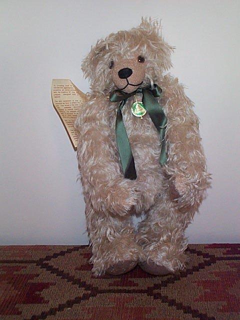 """1010: 18"""" Hermann jointed mohair teddy bear entitled """"A"""