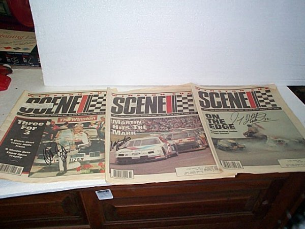 1016: Lot of 3 Winston Cup Scene newspapers including M