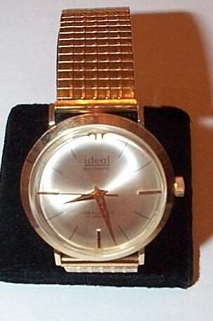 14K Ideal men's wrist watch with gold filled band