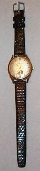4: 14K yellow gold Mathey Tissot men's wrist watch
