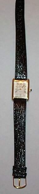 14K Bulova Accutron quartz men's wrist watch with 10