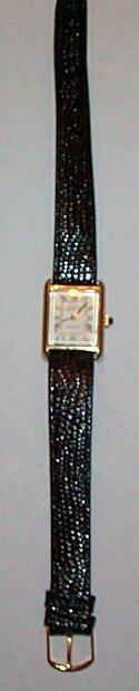 5: 14K Bulova Accutron quartz men's wrist watch with 10