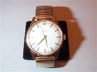 18K pink gold Zenith men's wrist watch with gold fil