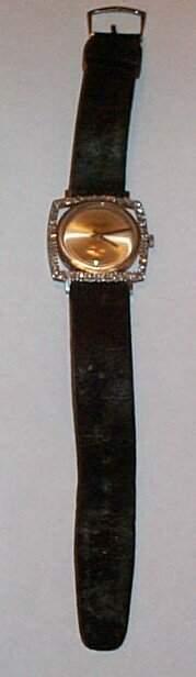 18K white gold Jules Jergenson men's wrist watch con